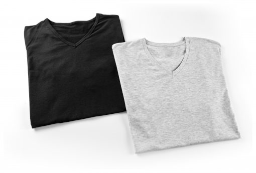 Tees - Black and Grey V Neck
