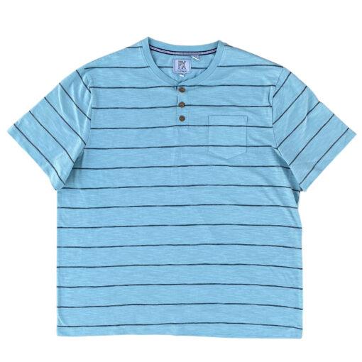 Brodie Garment Dyed Henley Tar